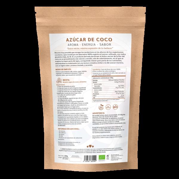 comprar azúcar de coco, un superalimento con beneficios y propiedades para una vida saludable y una alimentación equilibrada