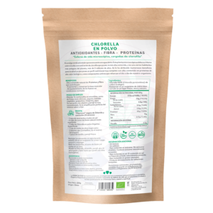 comprar chlorella en polvo, un superalimento con beneficios y propiedades para una vida saludable y una alimentación equilibrada