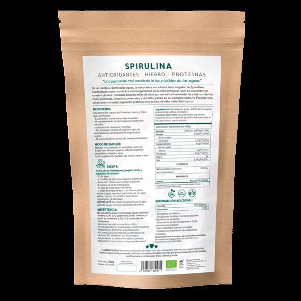 comprar spirulina, un superalimento con beneficios y propiedades para una vida saludable y una alimentación equilibrada