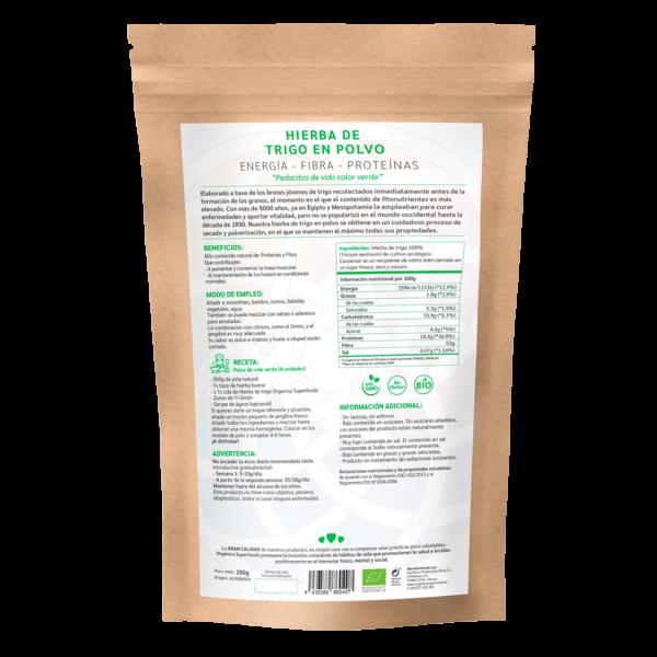 comprar hierba de trigo en polvo, un superalimento con beneficios y propiedades para una vida saludable y una alimentación equilibrada
