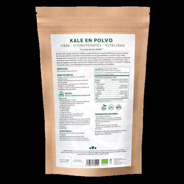 comprar kale en polvo, un superalimento con beneficios y propiedades para una vida saludable y una alimentación equilibrada