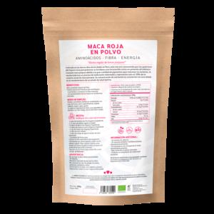 comprar maca roja en polvo, un superalimento con beneficios y propiedades para una vida saludable y una alimentación equilibrada