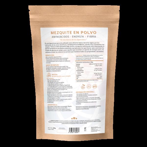comprar mezquite en polvo, un superalimento con beneficios y propiedades para una vida saludable y una alimentación equilibrada