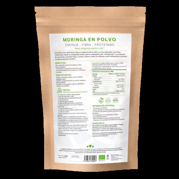 comprar moringa en polvo, un superalimento con beneficios y propiedades para una vida saludable y una alimentación equilibrada