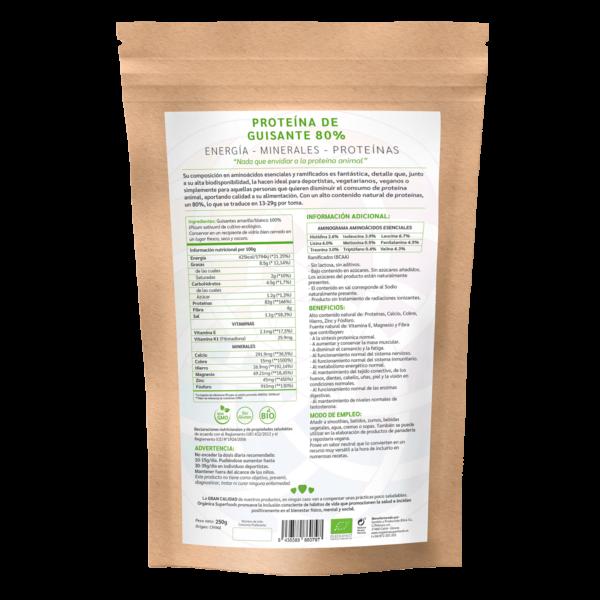 comprar proteína de guisante, un superalimento con beneficios y propiedades para una vida saludable y una alimentación equilibrada
