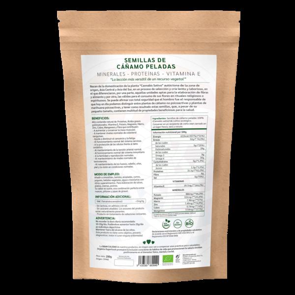 comprar semillas de cáñamo peladas, un superalimento con beneficios y propiedades para una vida saludable y una alimentación equilibrada