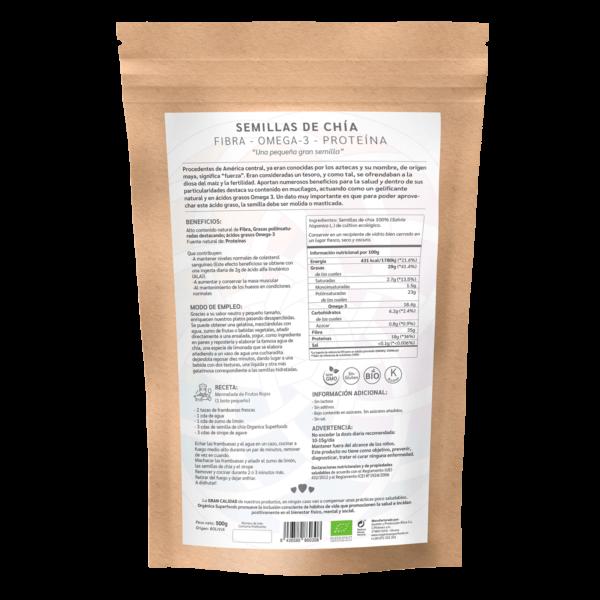comprar semillas de chía, un superalimento con beneficios y propiedades para una vida saludable y una alimentación equilibrada